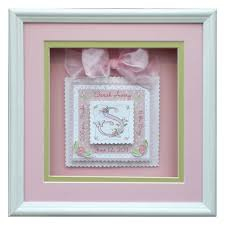 baby shadow box baby shadow box initial personalized baby girl gifts