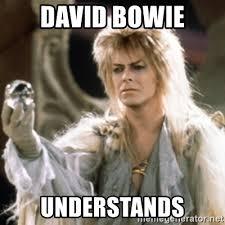 David Bowie Labyrinth Meme - david bowie understands labyrinth meme generator