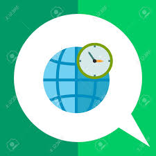 World Time Map Globe And Clock In Front Of It Map International Gmt World