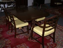 Duncan Phyfe Dining Room Table And Chairs Mahogany Duncan Phyfe Dining Room Table And Set Of Six Ribbon Back