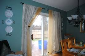 sliding door curtain rod coachesforum co pertaining to inspirations 12
