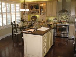 white country kitchen rectangle dark brown wooden island white