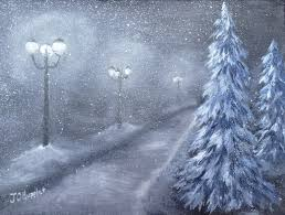 Way To Winter Winter Paintings J O Huppler