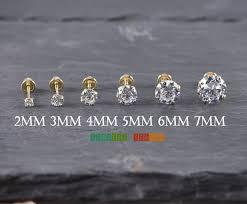 gold back earrings solid 14k yellow gold stud back earrings 2mm 3mm 4mm 5mm