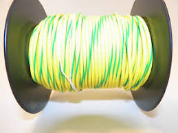 100 foot spool 18 gxl hi temp wire yellow green stripe