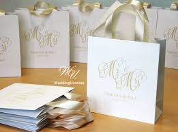 wedding gift bag ideas favor bags 4 x 8 paper personalized frosting metallic and