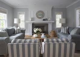 grey and beige living room white window curtains brown fabric sofa