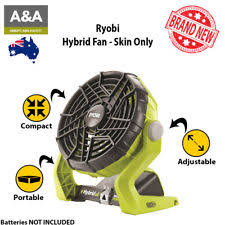 ryobi fan and battery ryobi one 18 volt hybrid portable fan cordless ion battery electric