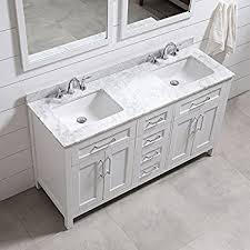 Marble Sink Vanity 60 Inch Bathroom Vanity Carrara White Includes