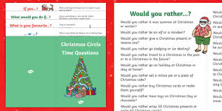 christmas circle time questions booklet
