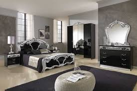 grey wall modern classic bedrooms designs with modern mirror can