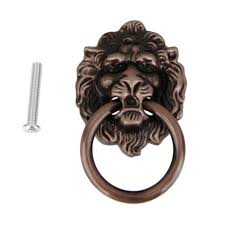 antique bronze lion lion drawer pull knobs handles dresser drop pulls rings antique