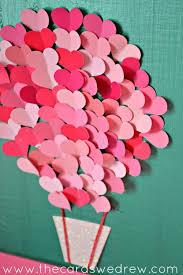 Valentine S Day Wall Decor by Paint Swatch Heart Air Balloon Nursery Art Valentine Crafts Diy