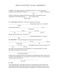 arizona rental lease agreement templates legalforms org