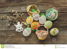 homemade easter decoration stock photo image 49455048
