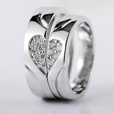 engagement couple rings images 925 silver heart shaped diamond creative design engraved couple jpg