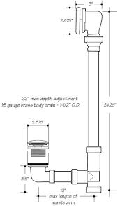 Bathtub Drain Mechanism Diagram Bathtub Waste And Overflow Drain Kits For Any Size Bathtub