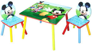bureau enfant mickey table chaise pour enfant ensemble table et chaise enfant ensemble