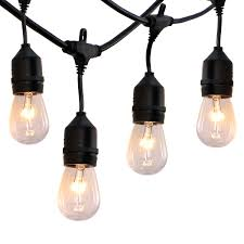 heavy duty outdoor string lights 52 ft outdoor string lights commercial grade weatherproof ul