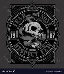 skull with snake t shirt design royalty free vector i on t shirt
