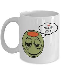 olive gifts i olive you gifts white ceramic mug is the best gift for our