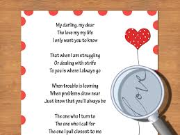 Writing Love Letters To Your Girlfriend How To Write A Valentine Poem That Rhymes With Sample Poems