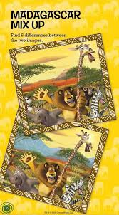 differences madagascar 2 escape 2 africa game