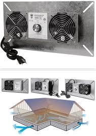 crawl space exhaust fan tjernlund underaire crawl space ventilator deluxe two crawl space
