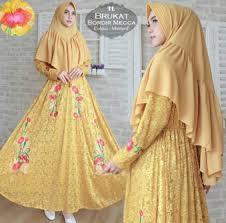 Baju Muslim Brokat baju muslim brokat syar i terbaru fashion muslim modern