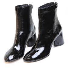 womens boots leather black shop lala ikai boots square heel toe heel