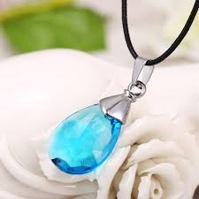 necklace stores online images J store hot anime swor art online sao blue water drop pendant jpg