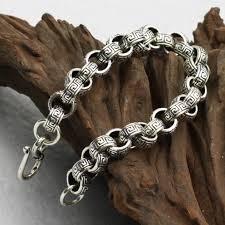 man silver link bracelet images 10mm handmade thailand 925 siilver bracelet vintage sterling jpg