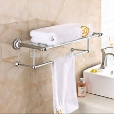 Bathroom Towel Holder Wholesale And Retail Promotion Modern Luxury Chrome Brass Bathroom