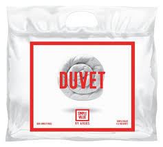 buy simple value 4 5 tog duvet single at argos co uk your