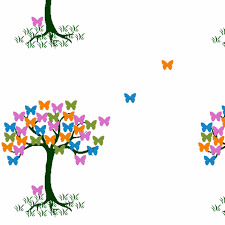 small butterfly tree fabric catrionat spoonflower