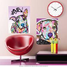 pop art wall decals shenra com baby pit bull dog dean russo pop art wall decal pet wall decor