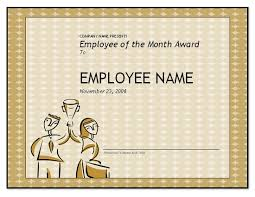 employee of the month certificate template business template