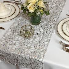 silver sequin table runner silver metallic lace sequin table runner floratouch