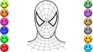 spiderman coloring pages drawing kids learn colors