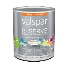 shop valspar reserve semi gloss latex interior paint and primer in