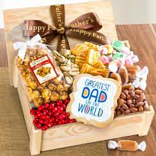 Snack Gift Baskets Dad U0027s Sweets U0026 Snacks Gift Crate With Father U0027s Day Ribbon Ac2015