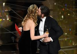 brie larson casey affleck larson says she can t remember giving affleck oscar