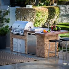 outdoor amazing outdoor kitchen island made from stone with