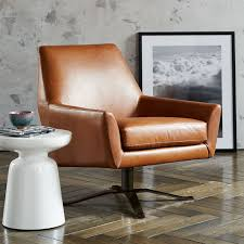 Leather Swivel Armchairs Lucas Leather Swivel Base Chair U0026 160 Living Rooms Room And