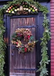 Christmas Outside Door Decorations by 50 Best Christmas Door Decorations For 2017