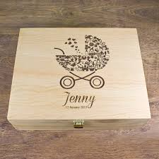 engraved memory box personalised baby girl s pram memory box treat republic