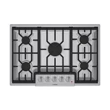 30 Inch 5 Burner Gas Cooktop Shop Bosch 800 Series 30 In 5 Burner Gas Cooktop Stainless At