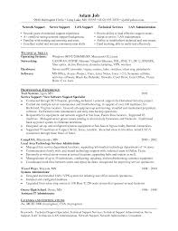 Resume Of Network Administrator It Support Specialist Resume Resume For Your Job Application