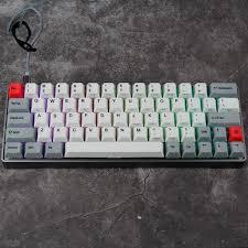 Keyboard Mechanical gk64 mechanical keyboard kbdfans