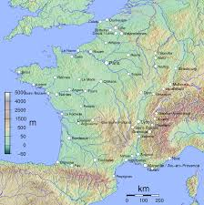 Geographical Map Of Europe by Large Physical Map Of France France Europe Mapsland Maps